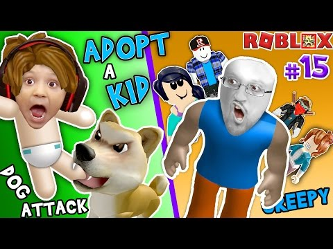 ROBLOX ADOPT & RAISE A CUTE KID! Dog Attacks Baby! (FGTEEV Part 15 Whos Your Daddy Style Roleplay)