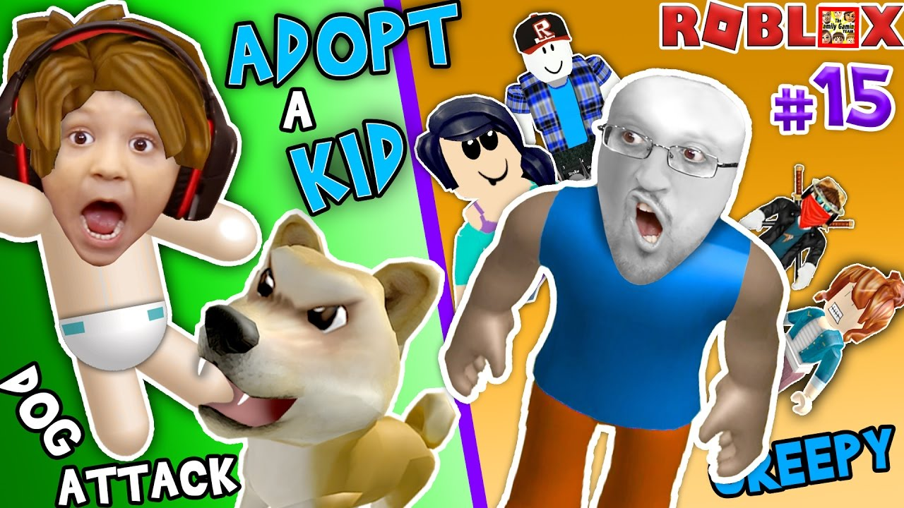 ROBLOX ADOPT & RAISE A CUTE KID! Dog Attacks Baby! (FGTEEV Part 15 Whos Your Daddy Style Rolepla