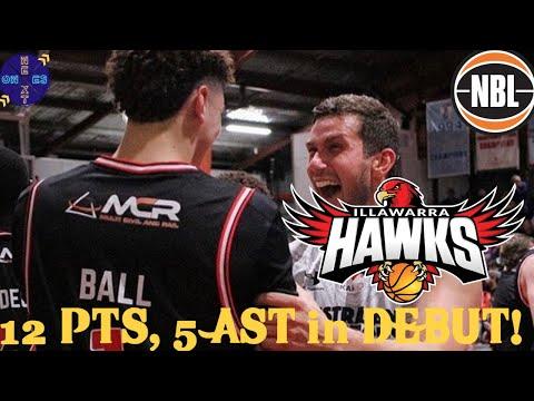 LaMelo Ball Illawarra Hawks NBL Pre-Season Stat Line: 12 PTS, 6 REBS, 5 ASSIST