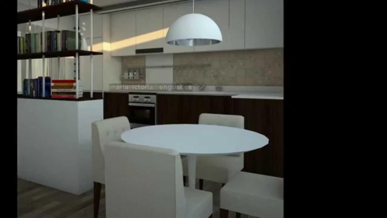 Reforma de vivienda zona de sal n cocina youtube for Unir cocina y salon