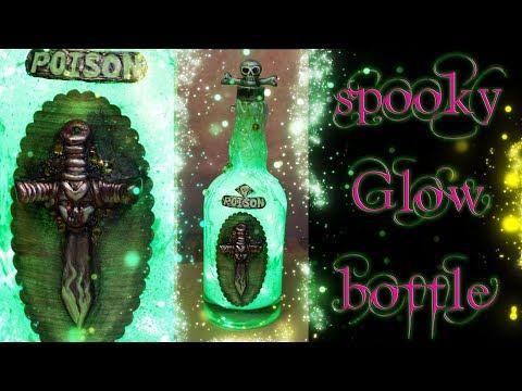 DIY Glowing Bottle - Halloween Decor - Spooky Poison Bottle