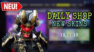 FORTNITE DAILY ITEM SHOP 18.11.18 NEUER SHOGUN SKIN