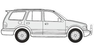 How to Draw a Kia Sportage Wagon / Как нарисовать Kia Sportage Wagon
