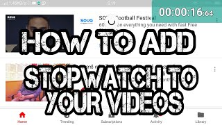 HOW TO ADD FLOATING STOPWATCH TO YOUR VIDEOS screenshot 2