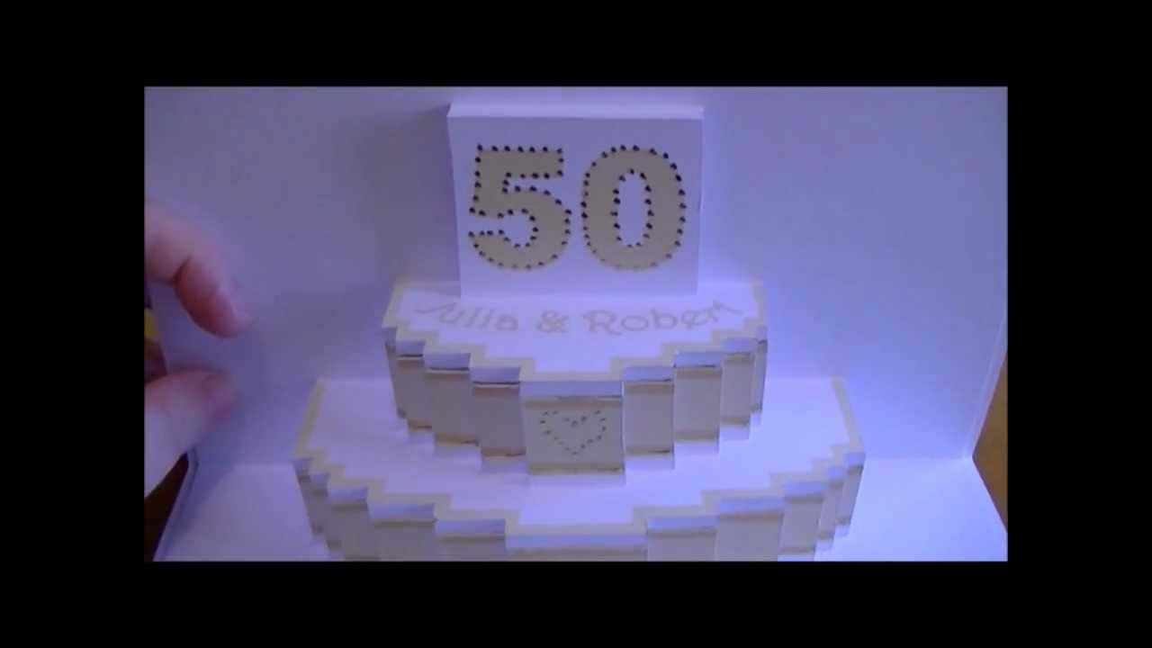 Personalised wedding anniversary pop up card youtube