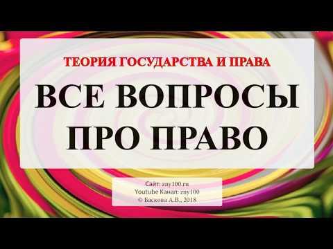 Баскова А.В./ ТГП/ Теория государства и права - ВСЕ ВОПРОСЫ ПРО ПРАВО