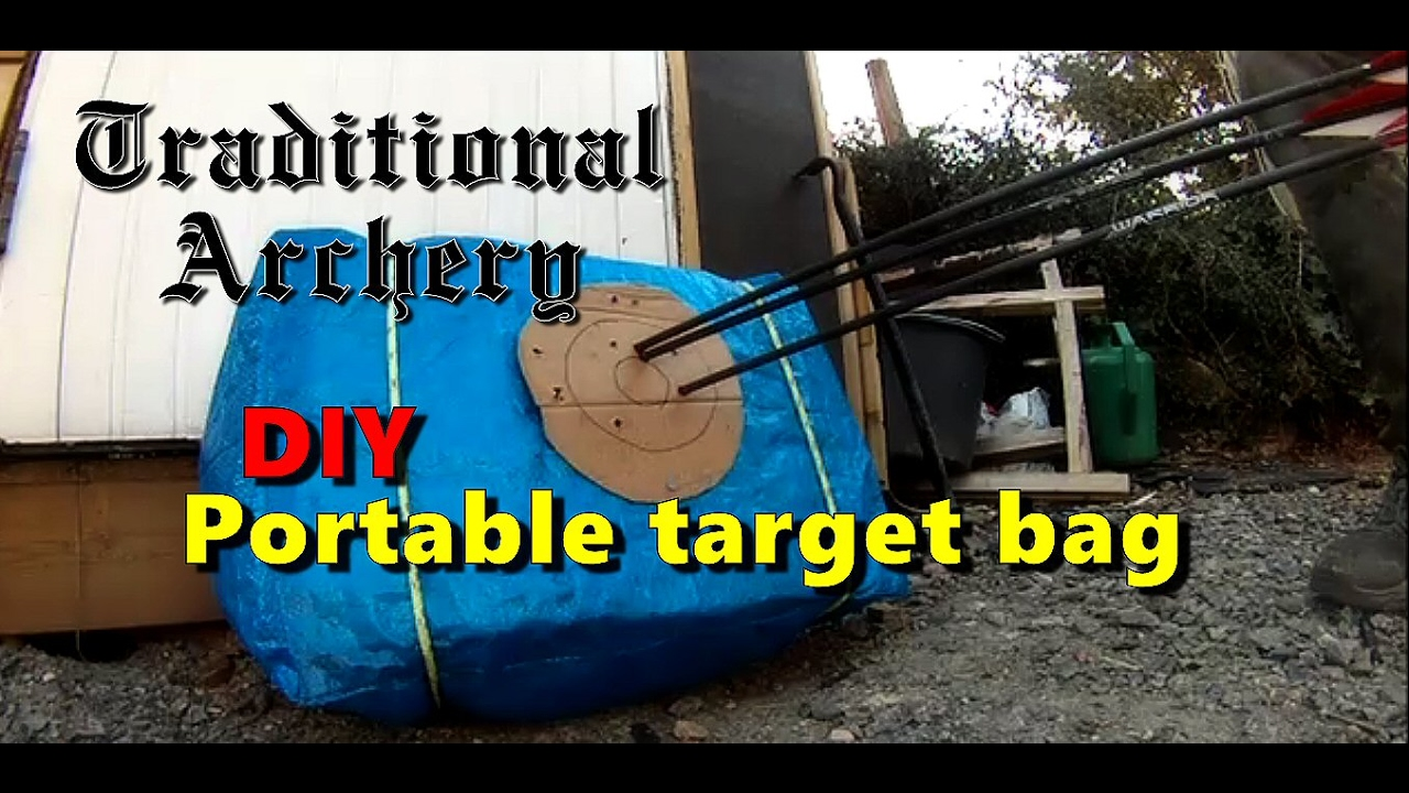 how i made a portable target bag in less tthan 10 minutes