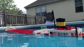 Sinking LEGO Edmund Fitzgerald Model【3/3】