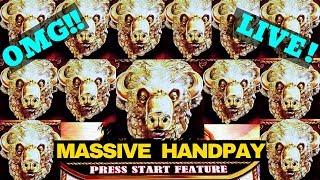 JACKPOT HANDPAY🔴Buffalo Gold Max Bet | Buffalo Slot MEGA WIN | Massive Handpay Jackpot | LIVE STREAM