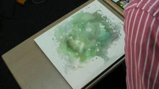 水彩動画塾 Lesson 4:'幹や枝はあとから'が透明水彩流