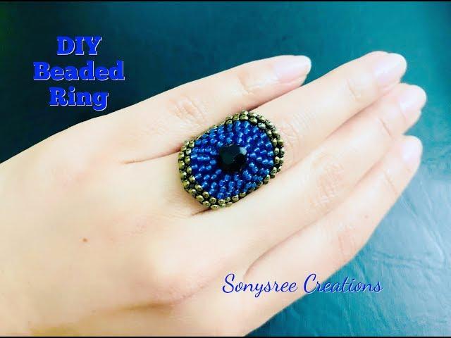 Circular brick stitch Ring Beaded Ring ????