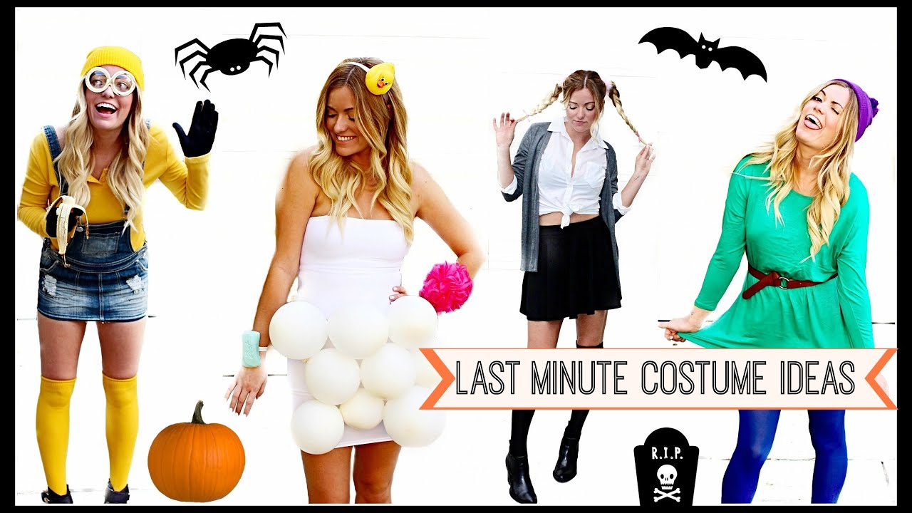 last minute diy halloween costumes style by dani youtube. Black Bedroom Furniture Sets. Home Design Ideas