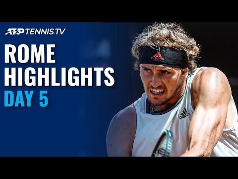 Nadal vs Shapovalov; Zverev vs Nishikori; Thiem & Djokovic in Action! | Rome 2021 Day 5 Highlights