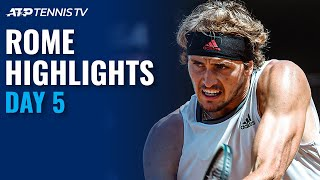 Nadal vs Shapovalov; Zverev vs Nishikori; Thiem & Djokovic in Action! | Rome 2021 Day 5 Highlights