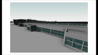 Ted Stevens Anchorage International Airport 3D Animation and Solar Study (REVIT and AUTOCAD)