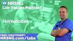 Hematocrit Nursing Considerations, Normal Range, Nursing Care, Lab Values Nursing