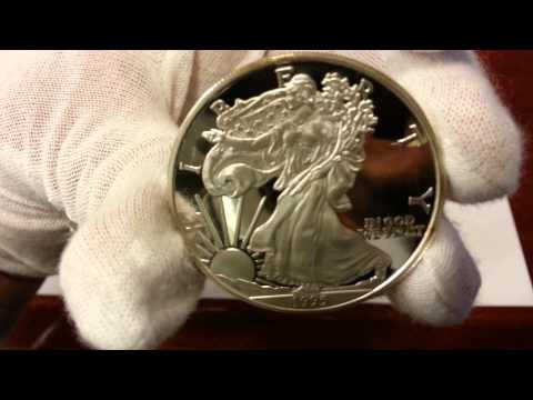Genuine Silver American Eagle and Silver Eagle Proof Copy Round Bullion