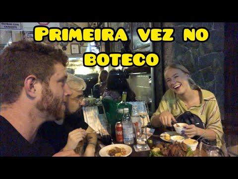 LEVEI A GRINGA NIENKE PARA um BOTECO no BRASIL