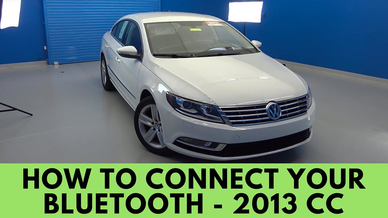 2013 Volkswagen CC: How to Connect Bluetooth