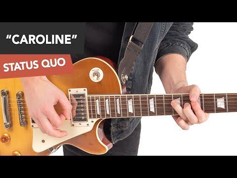 Status Quo - Caroline Guitar Lesson Tutorial #1 Main Opening Riff