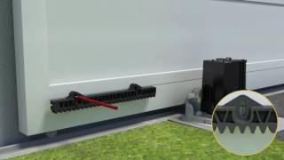 4. Comment fixer la crémaillère du Slidymoove sur le portail?
