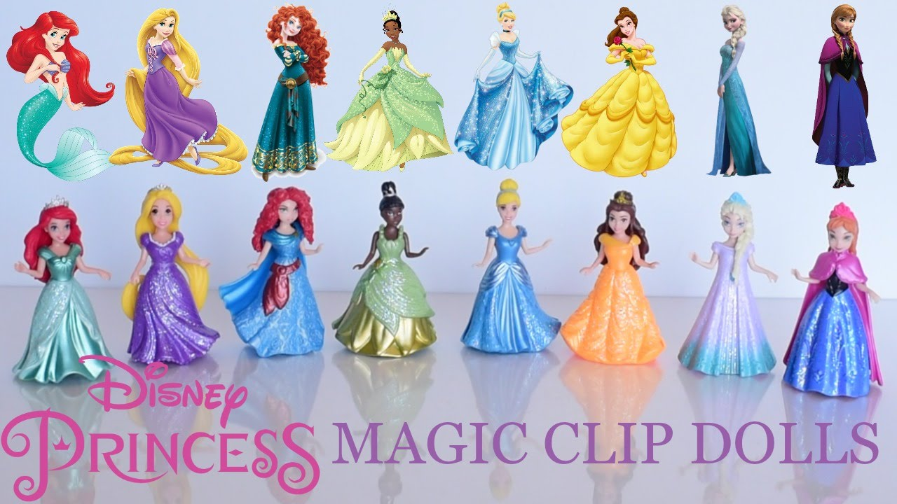 Disney Princess ROYAL DRESS-UP SET 3 Doll Figures /& 6 Dresses