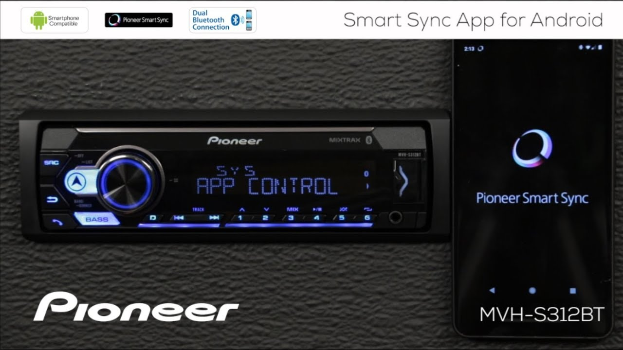 how to connect smart sync app with android phone to pioneer in dash receivers 2018 [ 1280 x 720 Pixel ]