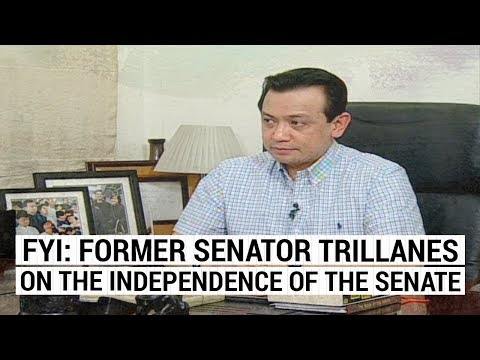 FYI: Former Senator Trillanes on the independence of the Senate