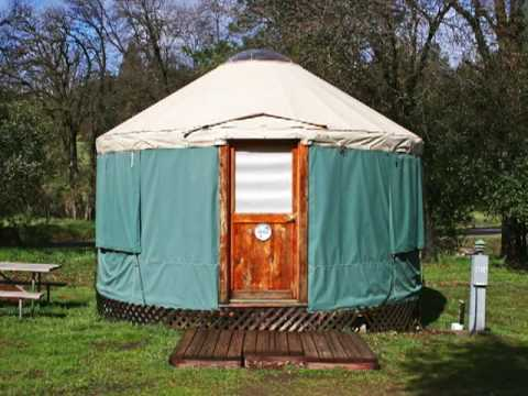 Yosemite yurts near yosemite national park youtube for Groveland ca cabin rentals