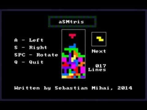 Sebastian Mihai - aSMtris - Tetris in assembly language (x86