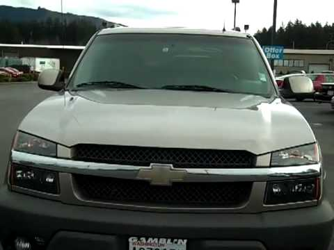 sold 2002 chevrolet avalanche north face edition v1696a. Black Bedroom Furniture Sets. Home Design Ideas