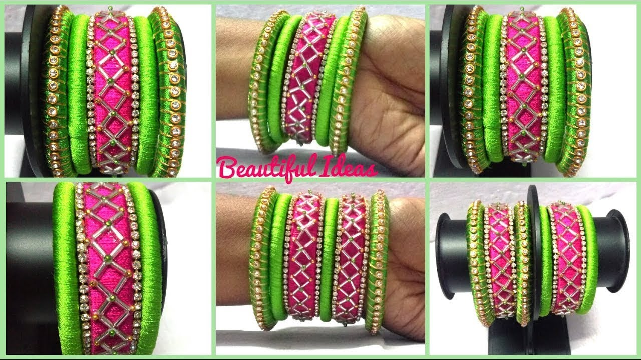 BEAUTIFUL SILK THREAD BANGLES DESIGNS NEW MODELS. - YouTube