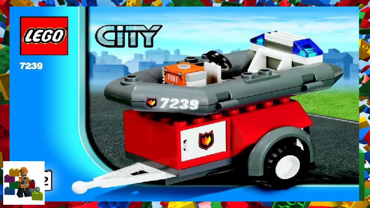 Lego Instructions City Fire 7239 Fire Truck Book 2 Youtube
