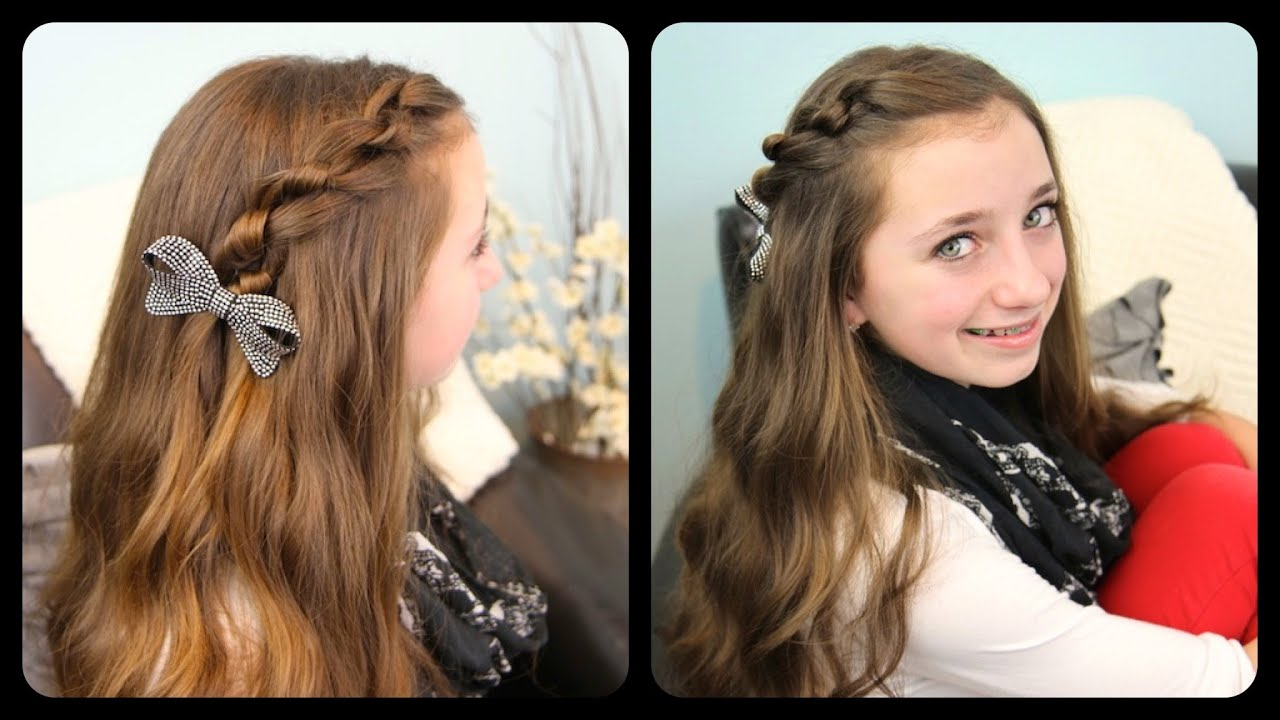 The Knotted Pullback | Cute Girls Hairstyles - YouTube