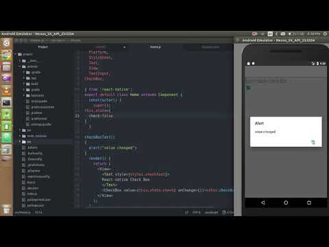 React-native tutorial # 10 checkbox in react-native with state