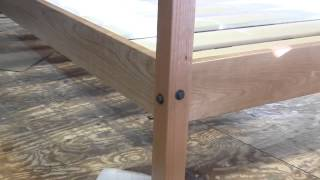 Pencil Post Bed, Finished Bed Details