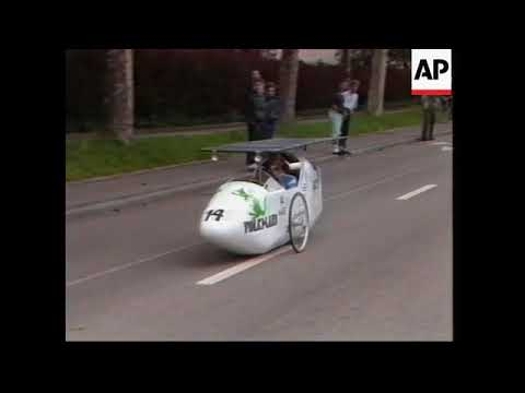 SWITZERLAND: Highlights of the solar-powered car race