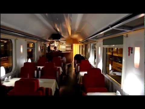 Inside the Russian Railway train Nice-Moscow
