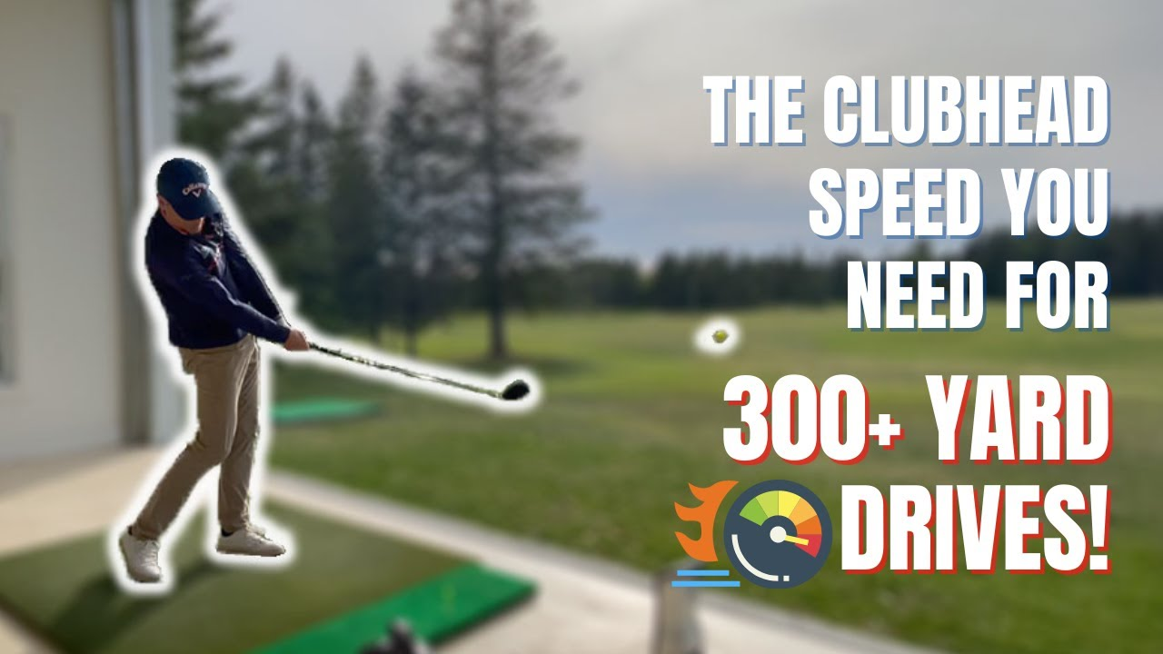 DRIVER MINIMUM SPEED AND LAUNCH CONDITIONS FOR 300 YARD DRIVES!  Easy drills to help you do it too!