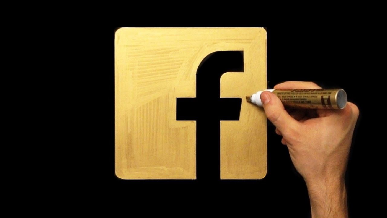 How To Draw Gold Facebook Logo Icon | Drawing | Draw With Denis