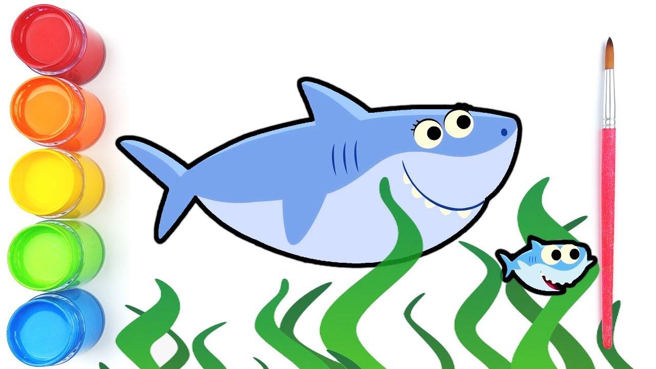 Baby Shark Drawing Nursery Rhymes Animal Songs Jolly