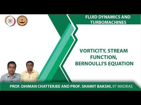 Vorticity, Stream Function, Bernoulli's Equation