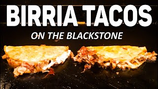 How to make Birria Tacos on the Blackstone Griddle | COOKING WITH BIG CAT 305
