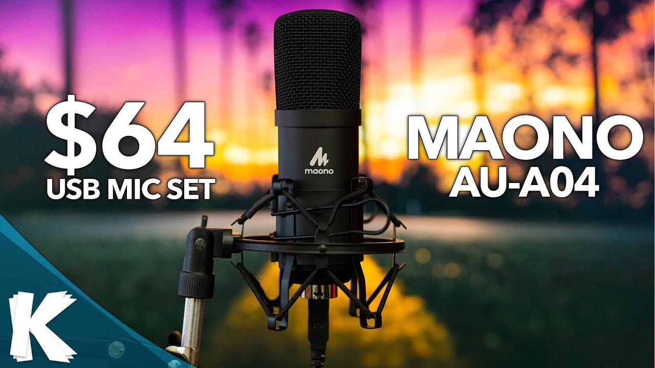 Download Fantastic $64 Studio Microphone Set | Maono AU-A04 | Clean Audio Quality | Audio Samples