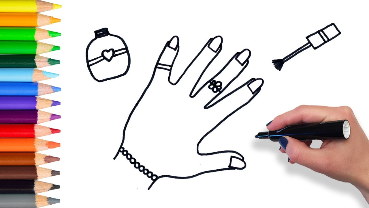 Learn How To Draw Nails And Jewelry Teach Drawing For Kids And