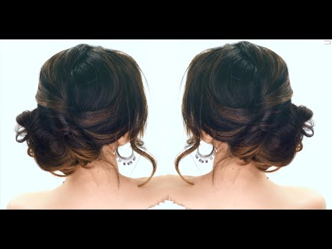 Lazy girl hairstyles 3-Minute Elegant SIDE BUN Hairstyle ★ EASY Summer Updo HAIRSTYLES