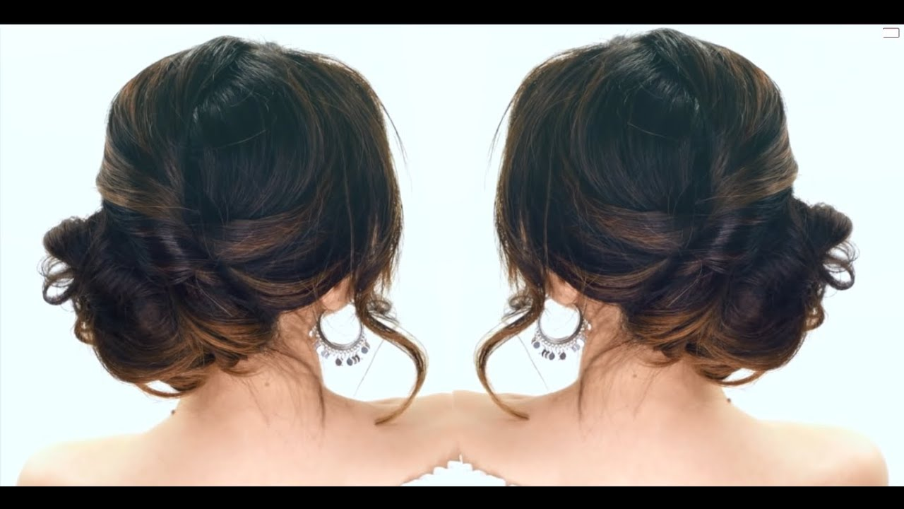 Lazy Girl Hairstyles 3 Minute Elegant Side Bun Hairstyle