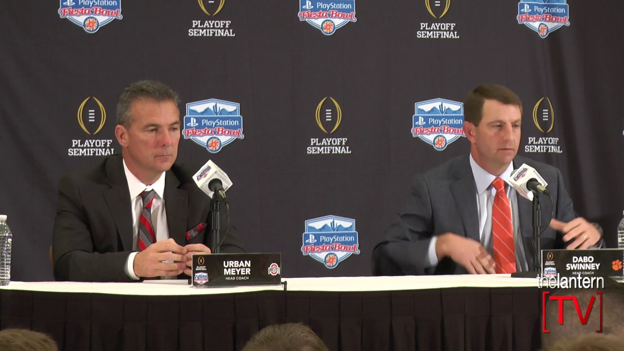 2016 Fiesta Bowl joint press conference - Urban Meyer and ...