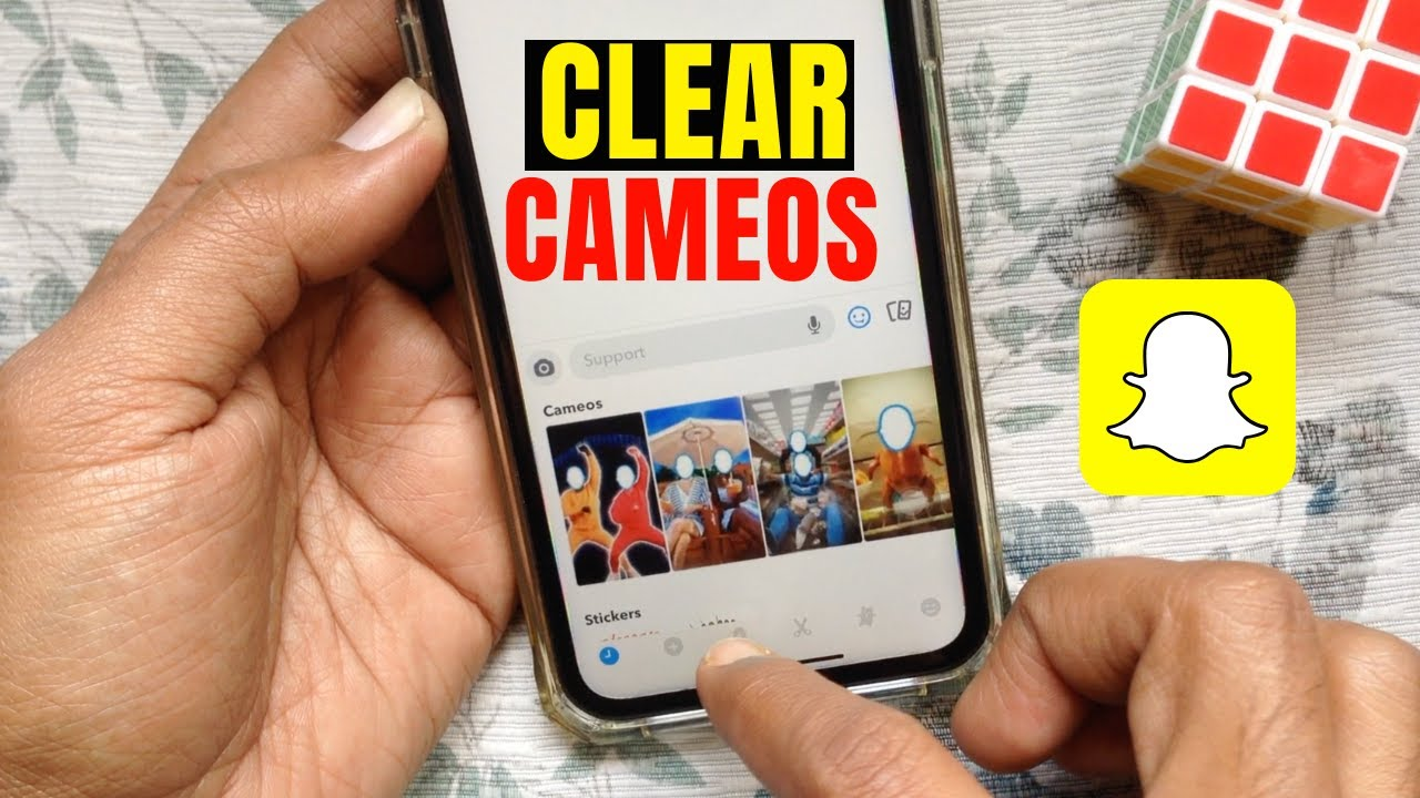 How to Clear Snapchat Cameos Selfie