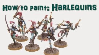 How to Paint a Harlequin Troupe